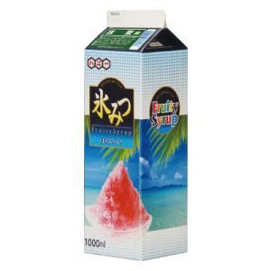 〔かき氷シロップ〕氷みつ 1リットル〔EX抹茶〕(1本)