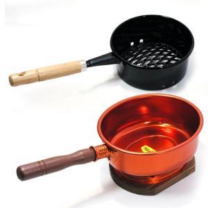〔炭用品〕 火熾し(鍋型) と台付台十能 (アルミ製) の便利セット|itibei