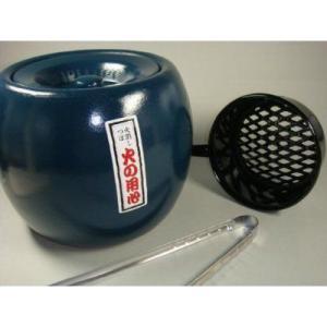 〔炭用品〕 火熾し鍋 と 火消しつぼ(敷き板付) 炭ばさみ の便利セット|itibei