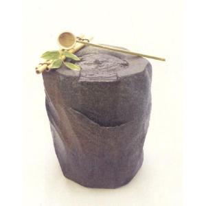 〔信楽焼 つくばい・蹲〕 紫香楽 SHIGARAKI (竹杓付き)|itibei