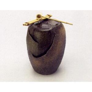 〔信楽焼 つくばい・蹲〕 響 HIBIKI (竹杓付き)|itibei