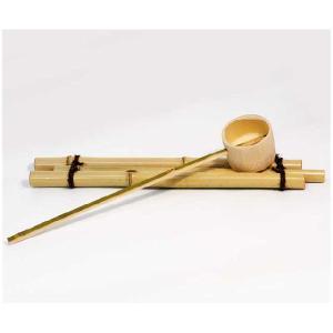 〔信楽焼 水鉢 竹杓〕 竹杓(大)|itibei