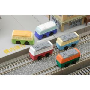 〔おもしろ消しゴム〕電車とバスの消しゴム(60入)|itibei