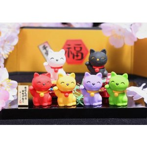 〔おもしろ消しゴム〕招き猫消しゴム(60入)|itibei