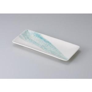 〔さんま皿 美濃焼〕 白水晶サンマ皿 5枚組