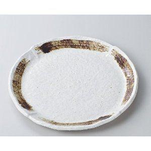 〔パスタ皿 美濃焼〕粉引茶刷毛9.0皿|itibei