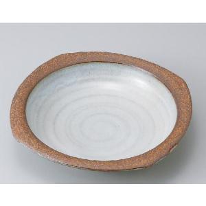〔パスタ皿 美濃焼〕粉引白うのふリム付カレー|itibei