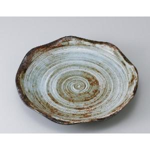 〔パスタ皿 美濃焼〕白刷毛均窯花型80皿|itibei