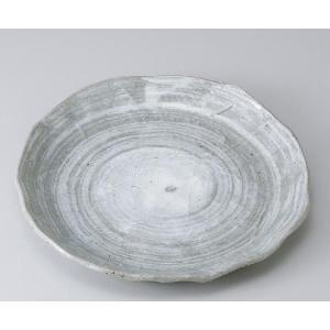 〔パスタ皿 美濃焼〕青磁刷毛手折り丸大皿|itibei