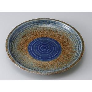〔パスタ皿 美濃焼〕藍流し8.0皿|itibei