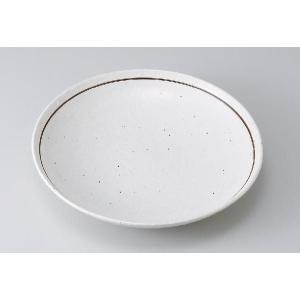 〔パスタ皿 美濃焼〕粉引ライン丸7.5深皿|itibei