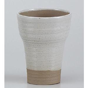 〔フリーカップ 美濃焼〕 軽々ビール白結晶|itibei