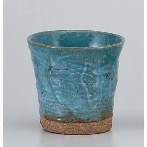 〔フリーカップ 美濃焼〕 焼酎ロック ブルー|itibei