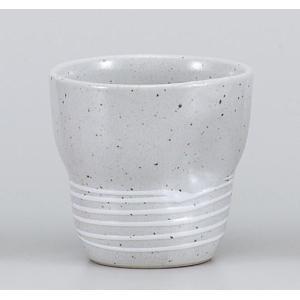 〔フリーカップ 美濃焼〕 白一珍ラインロックフリーカップ|itibei