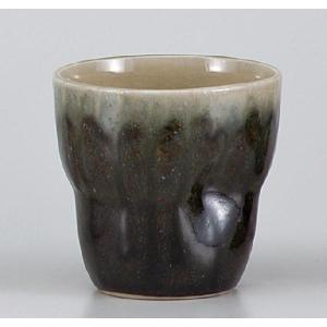 〔フリーカップ 美濃焼〕 持ちやすい紺ロックフリーカップ|itibei