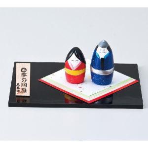 〔置物 縁起物 インテリア小物〕 縁起物四季の玄関飾り(3月ひな祭) itibei