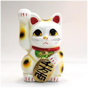 〔常滑焼招き猫〕 白手長小判猫 3号(右手)|itibei