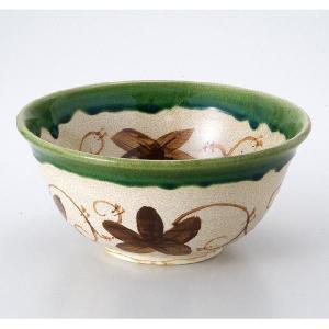 〔茶道具〕 織部菓子鉢 (景陶作)(化)|itibei