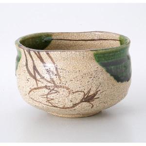 〔茶道具〕 織部茶碗(加実窯)(木)|itibei