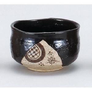 〔茶道具〕 黒織部茶碗 (加美窯) (木)|itibei