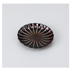 〔美濃焼 小皿〕 うるし釉菊型3.0皿|itibei