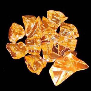 〔アクリルアイス〕ロック 蛍光クリア ライトオレンジ(1kg)|itibei
