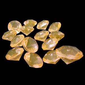 〔アクリルアイス〕ダイヤモンド 蛍光クリア ライトオレンジ(1kg)|itibei