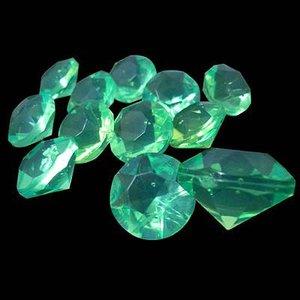 〔アクリルアイス〕ダイヤモンド 蛍光クリア ライトグリーン(1kg)|itibei