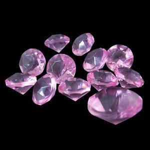 〔アクリルアイス〕 ダイヤモンド 蛍光クリア ライトピンク(1kg)|itibei