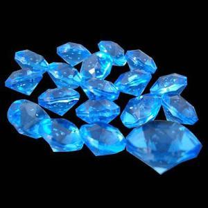 〔アクリルアイス〕 ダイヤモンド蛍光 ライトブルー(1kg)|itibei