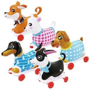 〔ビニール玩具〕お散歩犬・小 5種アソート(5個入)|itibei