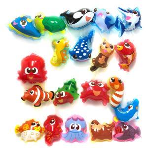 〔ビニール玩具〕ぷかぷか海のおともだち エアーヨーヨー (25個入り)|itibei