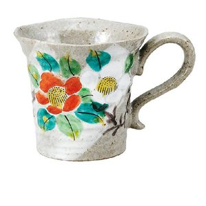 〔九谷焼〕 マグカップ・山茶花|itibei