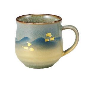 〔九谷焼〕 マグカップ・金箔彩連山|itibei