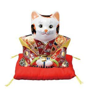 〔九谷焼〕 6号福助猫・盛(布団付)|itibei