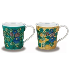 〔九谷焼〕 ペアマグカップ・山茶花|itibei
