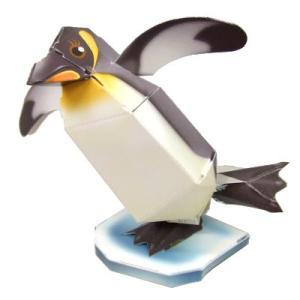 〔ペーパークラフト〕のりとハサミがいらないペーパークラフト 皇帝ペンギン(10入)|itibei