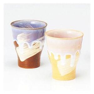 〔フリーカップ 萩焼〕 椿秀窯 フリーカップペア(色違い)|itibei