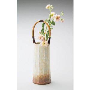 〔花瓶・花器 萩焼〕 孝彩窯 御本手 手付花瓶|itibei