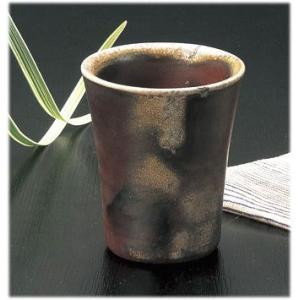 〔フリーカップ 備前焼〕 陶峰窯 桟切焼 フリーカップ|itibei