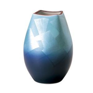 〔花瓶・花器 九谷焼〕 宗秀窯 釉裏銀彩 花瓶|itibei