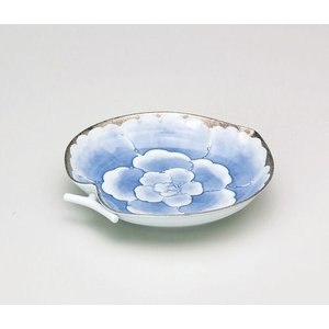 〔和皿・洋皿 有田焼〕 文山窯 プラチナ牡丹 りんご型皿|itibei