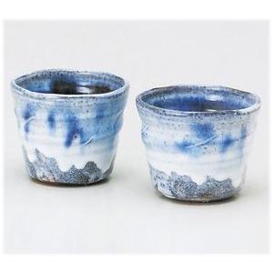 〔酒器 萩焼〕 浜村努 青釉 ペアカップ|itibei