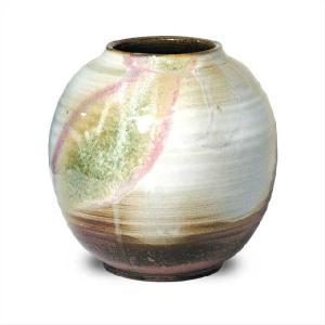 〔花瓶・花器 萩焼〕 山根清玩 三彩 花瓶|itibei