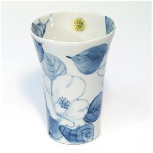 〔フリーカップ 九谷焼〕 千椿窯 白椿 フリーカップ|itibei