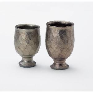〔酒器 信楽焼〕 富田正 金華 ペアワインカップ|itibei