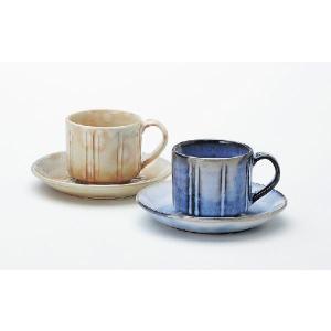 〔カップ&ソーサー 萩焼〕 孝彩窯 二釉 ペア碗皿|itibei
