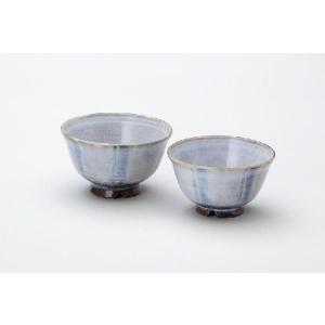 〔飯碗 萩焼〕 深水沙織 十草 夫婦飯茶碗|itibei