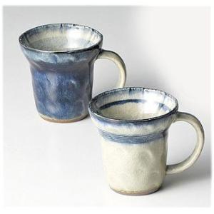 〔マグカップ 瀬戸焼〕 秀峰窯 御深井ペアマグセット|itibei