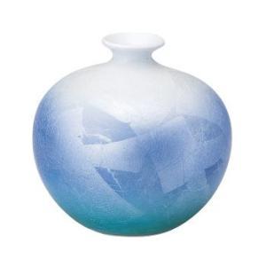 〔花瓶・花器 九谷焼〕 宗秀窯 釉裏銀彩 丸花瓶|itibei